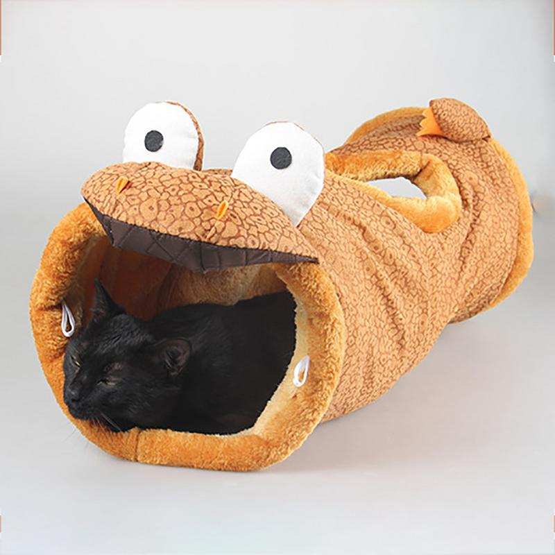 Image 4 - Folding Channel Dinosaur Giraffe Black Cat Tunnel Indoor Outdoor Pet Cat Training Toy For Cat Rabbit Animal Play Tunnel Tube-in Cat Toys from Home & Garden