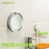 Fashion 6 Inches Metal Led Makeup Mirror Bathroom Haptor Wall Mirror 5 X Magnifying High