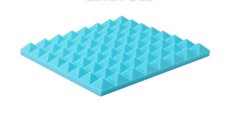 [ Fly Eagle ] Blue Soundproofing Acoustic Foam Sound Treatment Absorption Wedge Tiles 12Pcs 50cm X 5cm