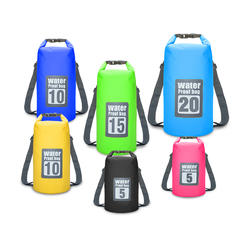 Outdoor Portable Rafting Dry Bag Sack Swimming Waterproof Storage River trekking Bags for Canoe Rafting Upstream 5L 10L 15L 20L 20l 30l river trekking bags waterproof surfing swimming storage dry sack bag pvc pouch boating kayaking canoeing floating