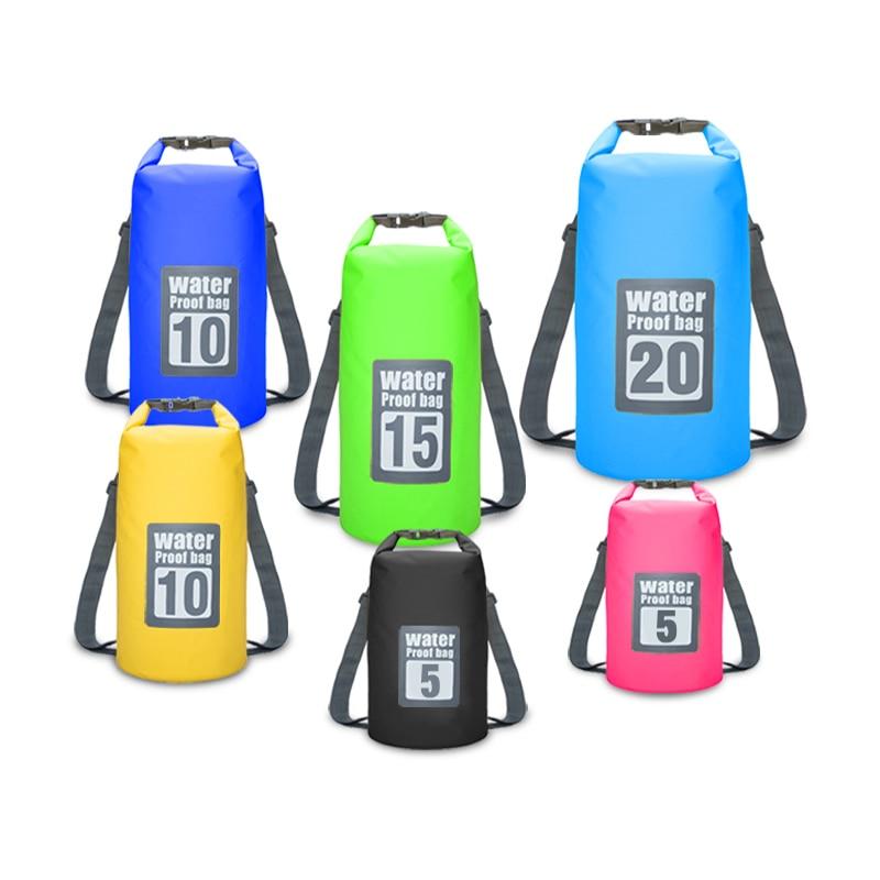 Outdoor Portable Rafting Dry Bag Sack Swimming Waterproof Storage River Trekking  Bags For Canoe Rafting Upstream 5L 10L 15L 20L
