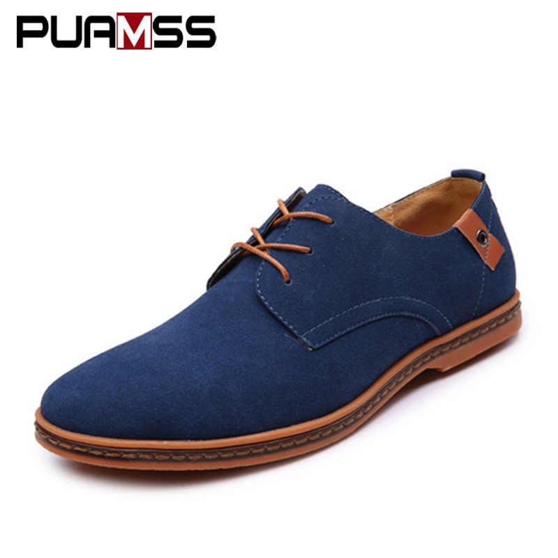 Brand Men Shoes England Trend Casual Shoes Male Suede Oxford Leather Dress  Shoes Zapatillas Men Flats 6e0e62ebeccf