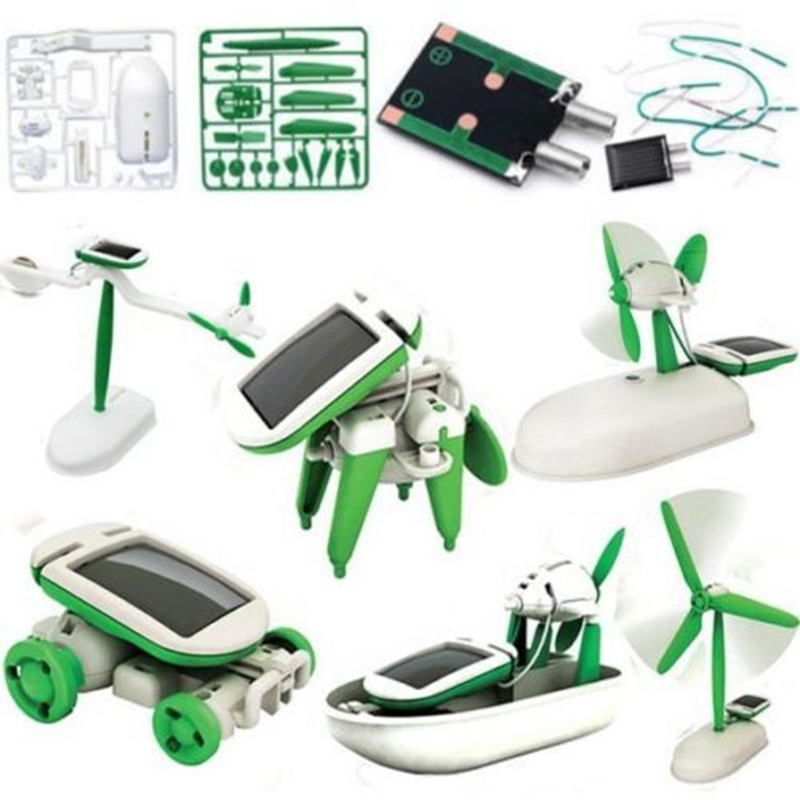 Solar 6 In1 Educational DIY Learning Power Robot Kits Toy Children Solar Toys Novelty Solar Robots Toys For Child Birthday Gifts ...