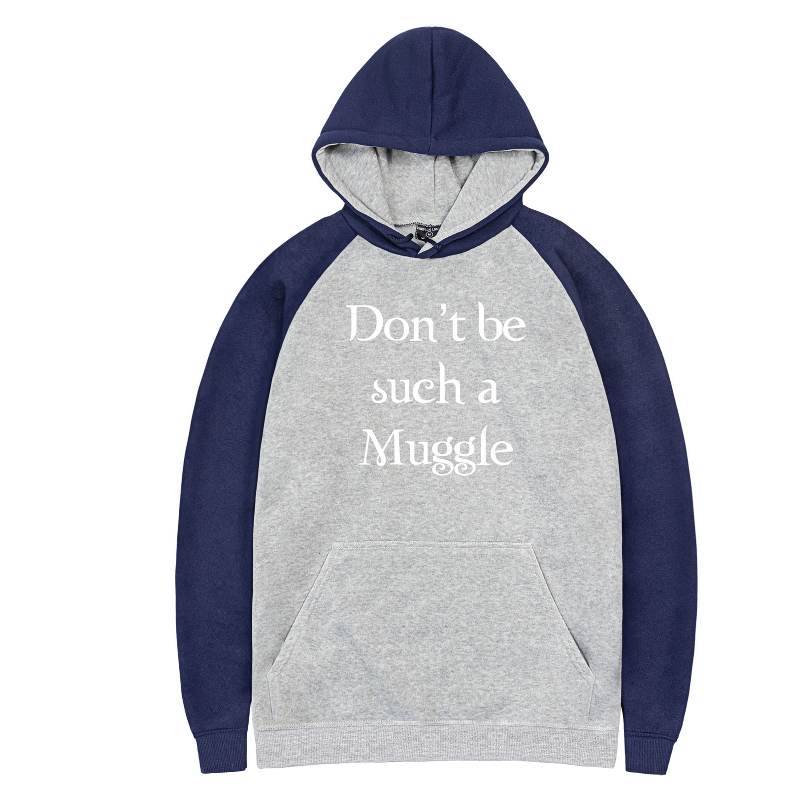 New Arrival 2019 Don't be such a Muggle Funny Fasion Printed Raglan Hoodies Men's Casual Streetwear Spring Autumn Fleece Hooded