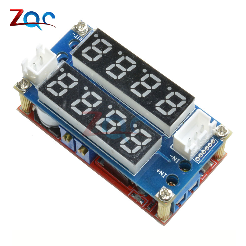 F85 5A Adjustable Power CC/CV Step-down Charge Module Digital Voltmeter Ammeter Display LED Driver for Arduino 1pcs lm2596 dc dc step down adjustable cc cv power supply module led driver