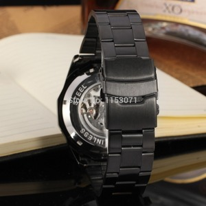 Image 3 - Reloj de pulsera de acero inoxidable automático de gran oferta de moda para hombre, reloj de pulsera Casual Color negro fsd8042m4b1