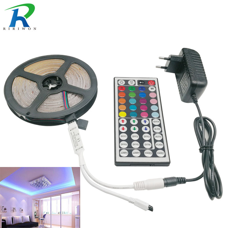 RiRi won 5050 RGB LED Strip light 30LEDS 5m 10m 15m flexible Leds Diode led Tape SMD 44 keys IR controller 12V Power Adapter setRiRi won 5050 RGB LED Strip light 30LEDS 5m 10m 15m flexible Leds Diode led Tape SMD 44 keys IR controller 12V Power Adapter set