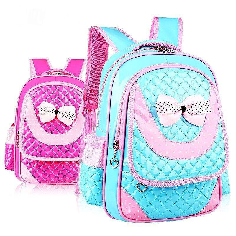 Hot new 2017 PU Leather girls school bag good quality children school bags kids backpack Grades