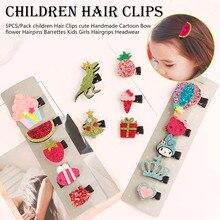New Kids Children Accessories Hairpins Barrettes Baby Fabric Bow Flower Head wear Hair clips Girls Headdress