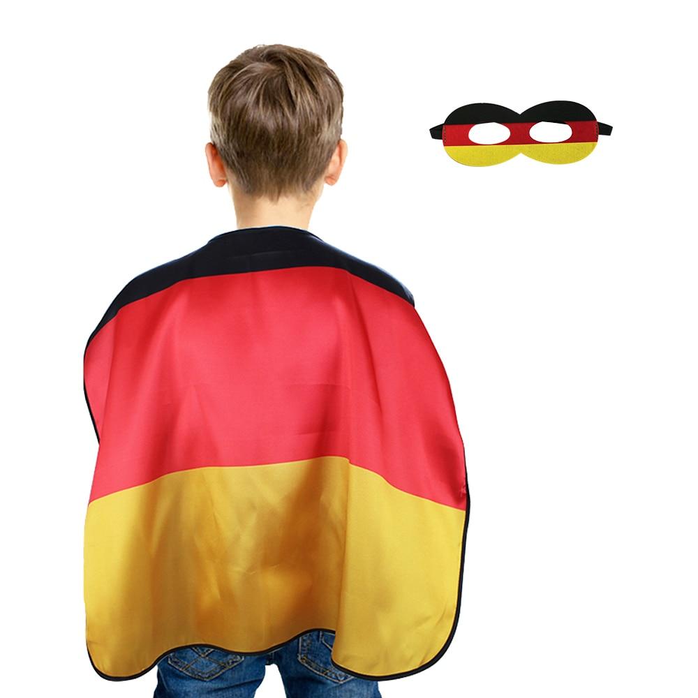 Us 2 19 14 Off Spezielle L 27 Deutschland Flags Cape Maske Kinder Fussball Fans Spielzeug Kleid Up Geschenke Kind Kostume Europaische Championship
