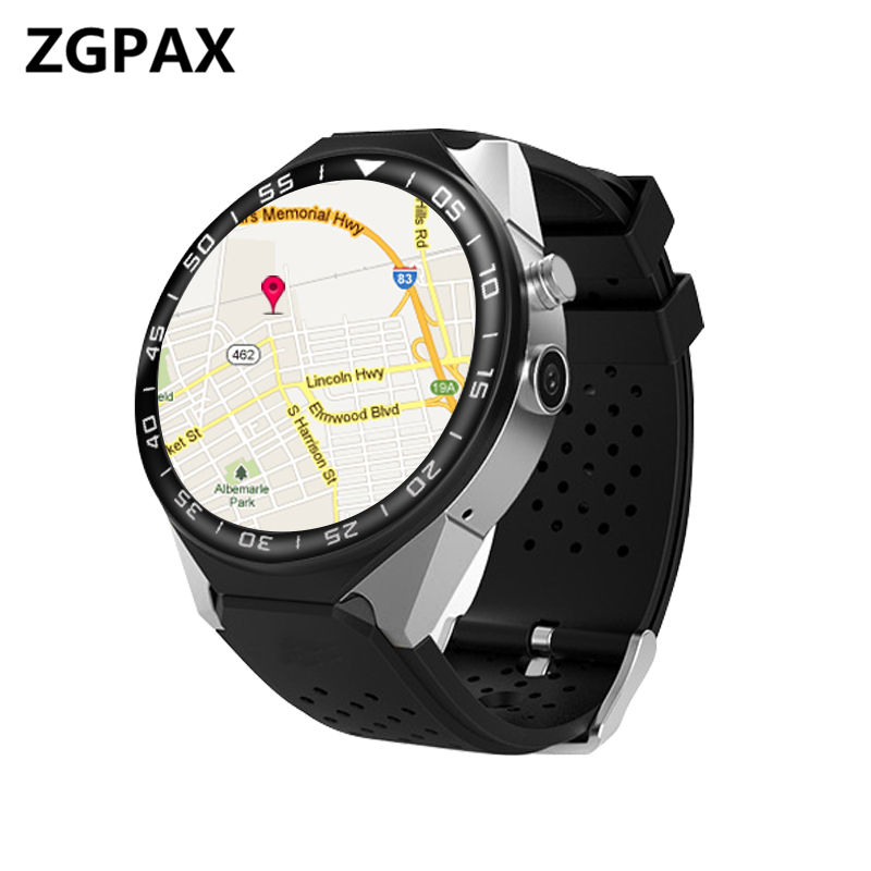 KW88+ Android 5.1 OS SmartWatch Electronics Android 1.39 MTK6580 Smart Watch Phone Support 3G Wifi gps For apple Samsung les2