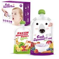 8 pçs de alta qualidade resealable fresco espremido malotes prático bebê desmame alimentos purê reutilizável espremer para recém-nascido