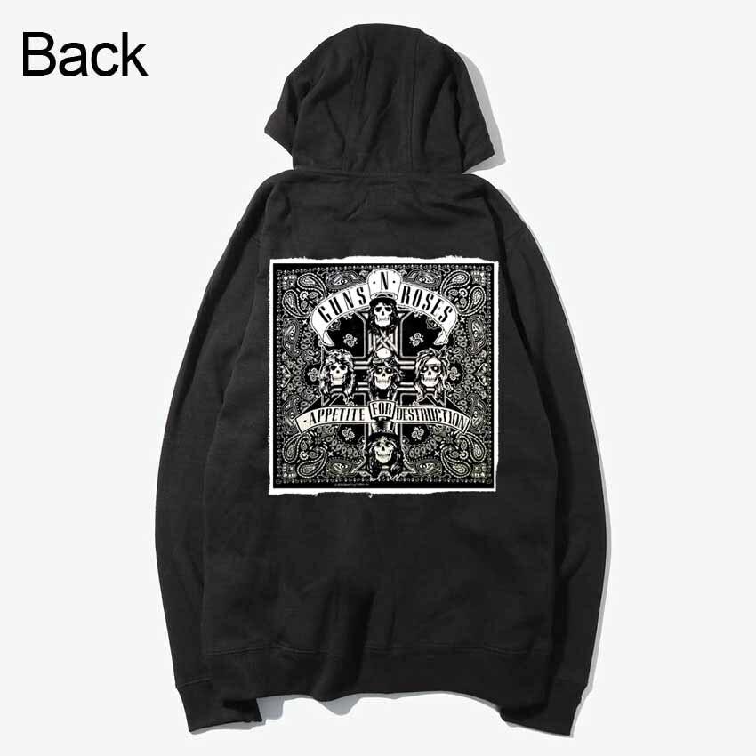 Guns N Roses Череп Лоскутная рок стиль кофты Демисезонный молнии Толстовки верхняя одежда