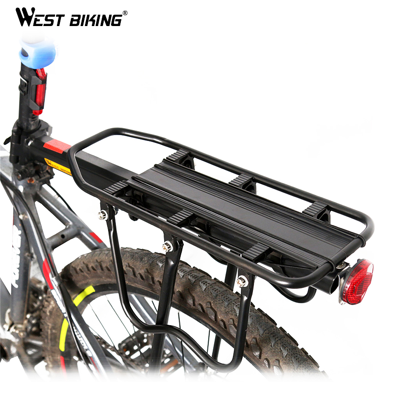 WEST BIKING Rear Carrier Rack Seat Load 50Kg Cycling Mountain Bag V-brake Shelf Bicycle General Stacking Quick Release Seat partol black car roof rack cross bars roof luggage carrier cargo boxes bike rack 45kg 100lbs for honda pilot 2013 2014 2015