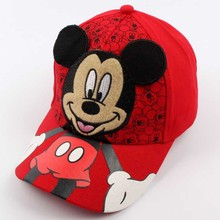 Mickey Mouse Birthday Party Gifts Kids Hat Baby Snapback Hats Children Cap Cartoon Hip Hop Favors 2-7 Years