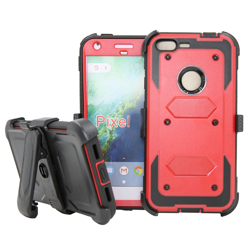 New Heavy Duty Armor Case Holster With Belt Clip Kickstand Anti Shock Hard Phone Cover Case For Google Pixel/Pixel XL