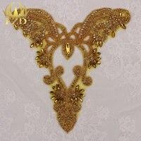 (30 piezas) al por mayor que rebordea Diamantes con piedras falsas Recortes amarillo Garment motif cristales para la ropa Vestidos de novia coser strass apliques