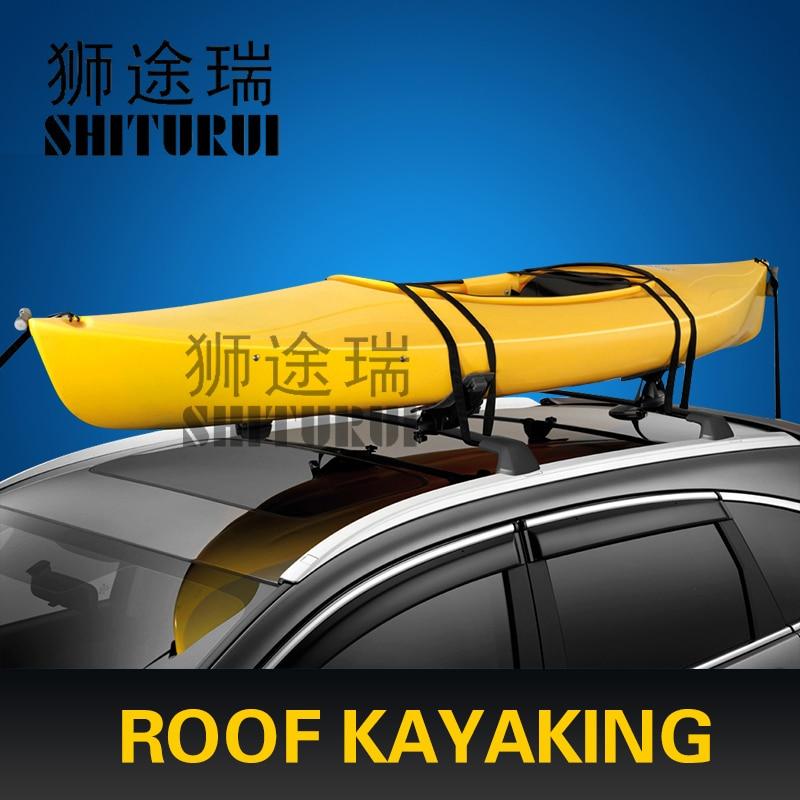 SHITURUI Car roof windsurfing kayaks Vaporetto canoes Canoes sailing boat racks kayak shelf modification