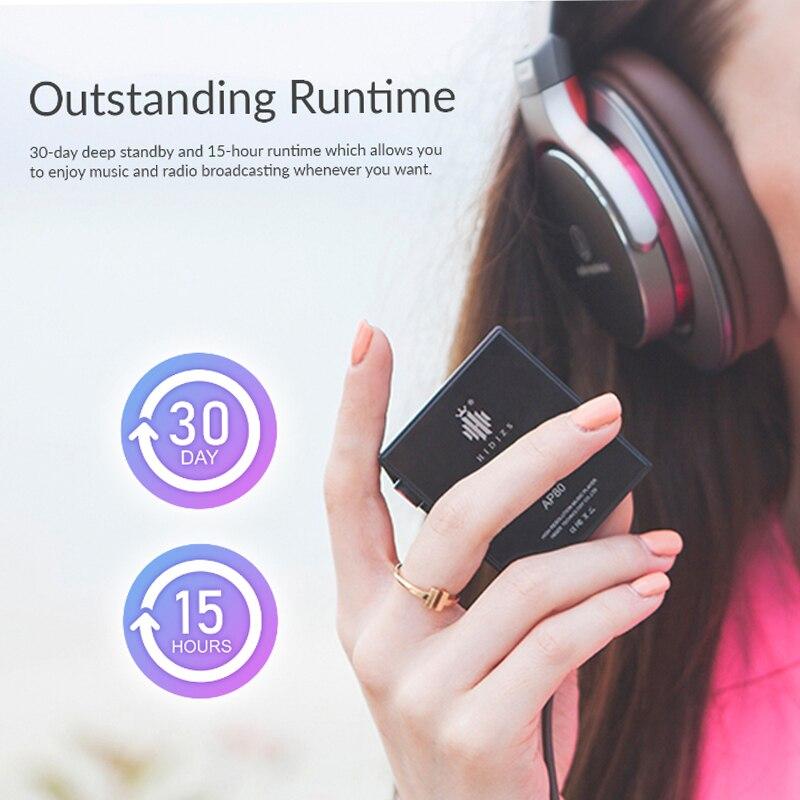 Hidizs AP80 hi-res ES9218P Bluetooth HIFI musique lecteur MP3 LDAC USB DAC DSD 64/128 FM Radio HibyLink FALC DAP hi-res apt-x - 5