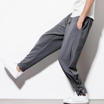 Comprar ahora INCERUN otoño nuevo Harem pantalones de lino Casual para hombre  Pantalones de chándal cintura effc52d6fd4