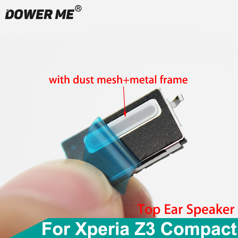 Dower Me Top Ear Speaker Receiver Earpiece Earphone With Adhesive+Metal Frame For SONY Xperia Z3 Compact M55W Z3mini D5833 D5803