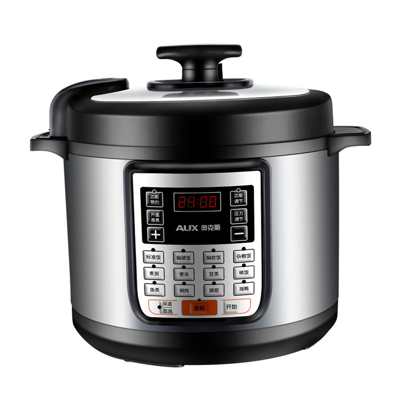 220V AUX 5L ELectric Electric Pressure Cooker Non-stick Microcomputer Control Electric Rice Cooker Intelligent Booking Function 220v 600w 1 2l portable multi cooker mini electric hot pot stainless steel inner electric cooker with steam lattice for students