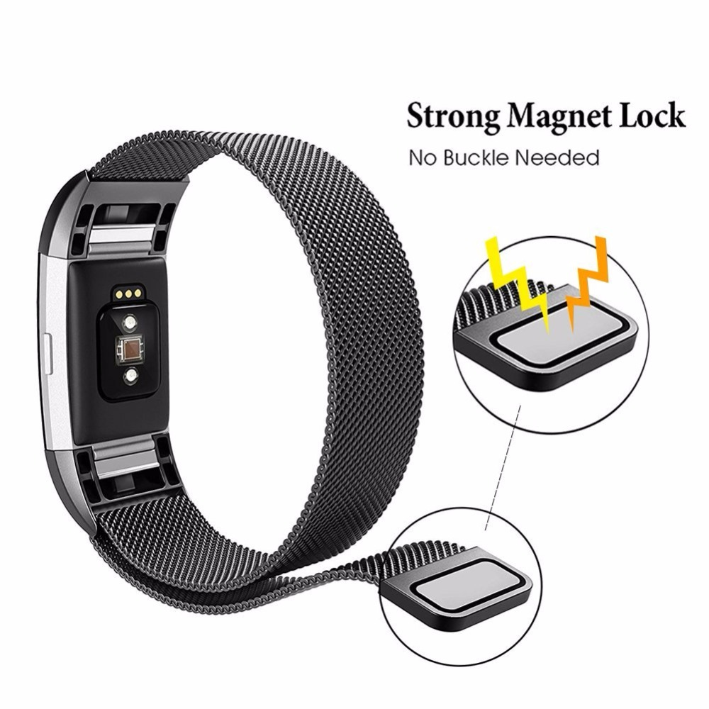 Magnetic Milanese Loop Wrist Strap Stainless Steel Band for
