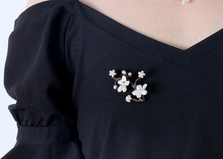 Գեղեցիկ բալի ծաղկի պղնձի լակի նկարել - Նորաձև զարդեր - Լուսանկար 2