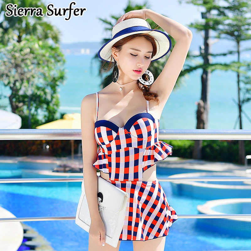 One Piece Swimsuit Cheap Sexy Bathing Suits Swim Suit May Beach Girls 2018 New Skirt Bra Underwire Three Badeanzug Damen Maillot swimwear women cheap sexy bathing suits swim suit one piece may beach girls push up skirt new neck maillot de bain femme une