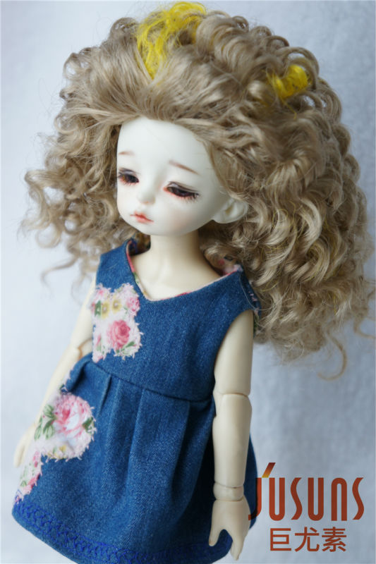 JD130 1/6 BJD doll wig Crazy  Afro wig  synthetic fiber wig YOSD doll accessories