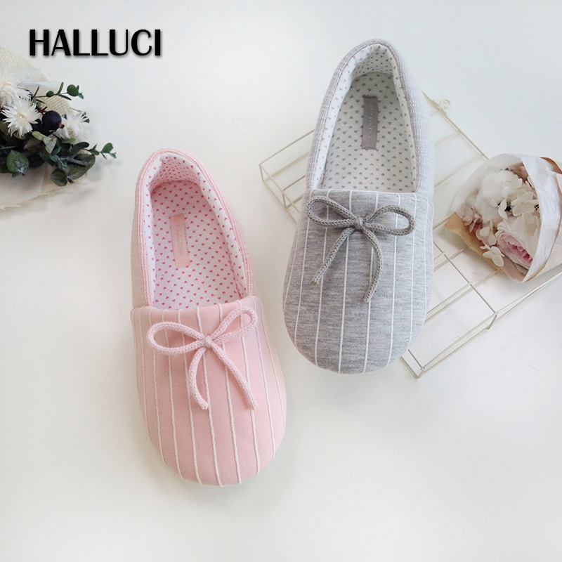 HALLUCI Anti skid rubber soft sole home flats shoes women cover heel cotton ladies casual slides Pregnant women loafers shoes vintage embroidery women flats chinese floral canvas embroidered shoes national old beijing cloth single dance soft flats