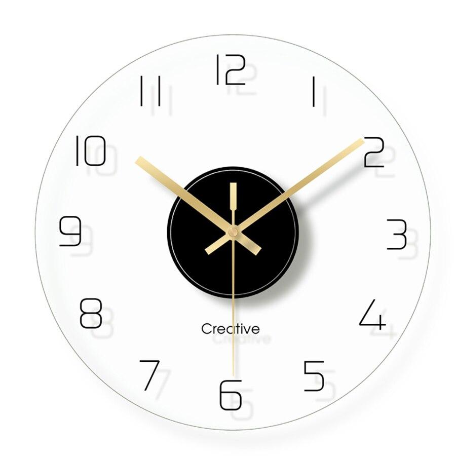 Moderne enfants Transparent horloge murale numérique Simple verre horloges mécanisme horloge secrète mur enfants salon aiguille mur montre 5