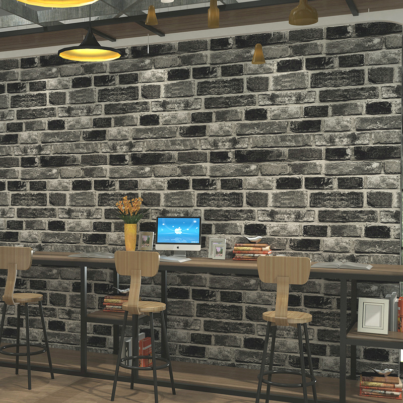 3D Non-woven Fabric Brick Wall Papers Home Decor Retro Restaurant Living Room Sofa TV Background Brick Wallpaper For Walls Roll milan classical wall papers home decor non woven wallpaper roll embossed simple light color living room wallpapers wall mural