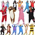 Estudiantes mujeres de los hombres cosplay disfraces adultos onesie fleece ropa de dormir pijamas all in one pijamas dress animal de la fiesta de halloween trajes