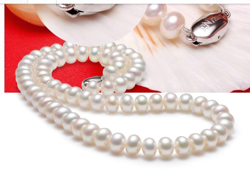 noble women gift Jewelry Silver Clasp Fine mm AAAA Grade Freshwater Pearl