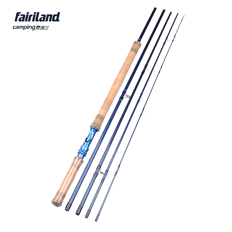 Fairiland 5 Sections 11.2ft/3.4M 8/9# Fly Fishing Rod 211g/7.4oz IM7 Carbon Saltwater/Freshwater Blue Fly Rod aveda green science masque age 8 5 oz