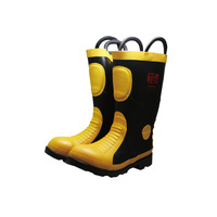 winter style fire fighter boots with cotton inside fireman boots safety boots