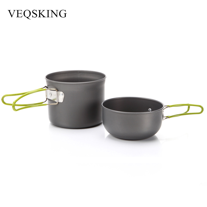 Aluminum Alloy Hiking Picnic Tourist Tableware Set With Folding Spoon Fork Knife Non stick Pot Pan Outdoor C&ing Trip Cookware-in Outdoor Tablewares from ...  sc 1 st  AliExpress.com & Aluminum Alloy Hiking Picnic Tourist Tableware Set With Folding ...