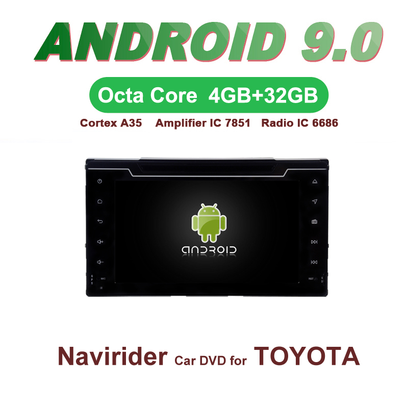 OTOJETA Car GPS 7inch Android 9.0 Radio FOR TOYOTA COROLLA 2017 bluetooth Navigation Capacitive screen support mirror link