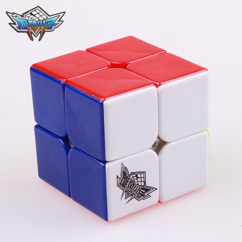 Cyclone Boys Professional Speed ​​Magic Cube 2x2x2 Klisterlös Pussel Mini 50mm Cubo Magico Montessori Leksaker För Barn Gift