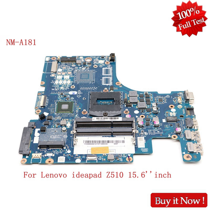 NOKOTION NM-A181 Notebook Mainboad For Lenovo ideapad Z510 15.6'' inch Laptop Motherboard AILZA HD4400 Tested