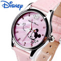 Disney Relojes Niños de la Historieta del Minnie Relojes de Moda Lindo de Los Niños de Cuero Relogio Cuarzo Reloj Regalo de La Muchacha