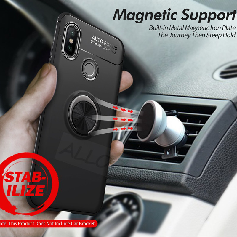2019 Ring Case Redmi Note 7 5 Pro 6A 4X Pocophone F1 Silicone Magnet Bracket Cover For Xiaomi Mi 9T Pro 9 SE Mi 8 A2 Lite Case in Fitted Cases from Cellphones Telecommunications