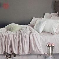 Западные розовый цветочной вышивкой 100% хлопок шелковое постельное белье простыней типа домашний текстиль SP3089