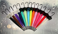 10 Pieces Lot New Elegant Semi Automatic Lace Umbrella Fancy Sunny And Rainy Pagoda Umbrellas