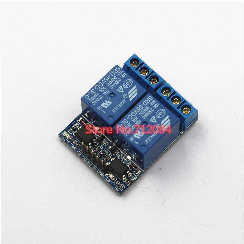 2 two channel relay module relay expansion board with optocoupler, 3.3V and 5V compatible 5v 2 channel ir relay shield expansion board module for arduino with infrared remote controller