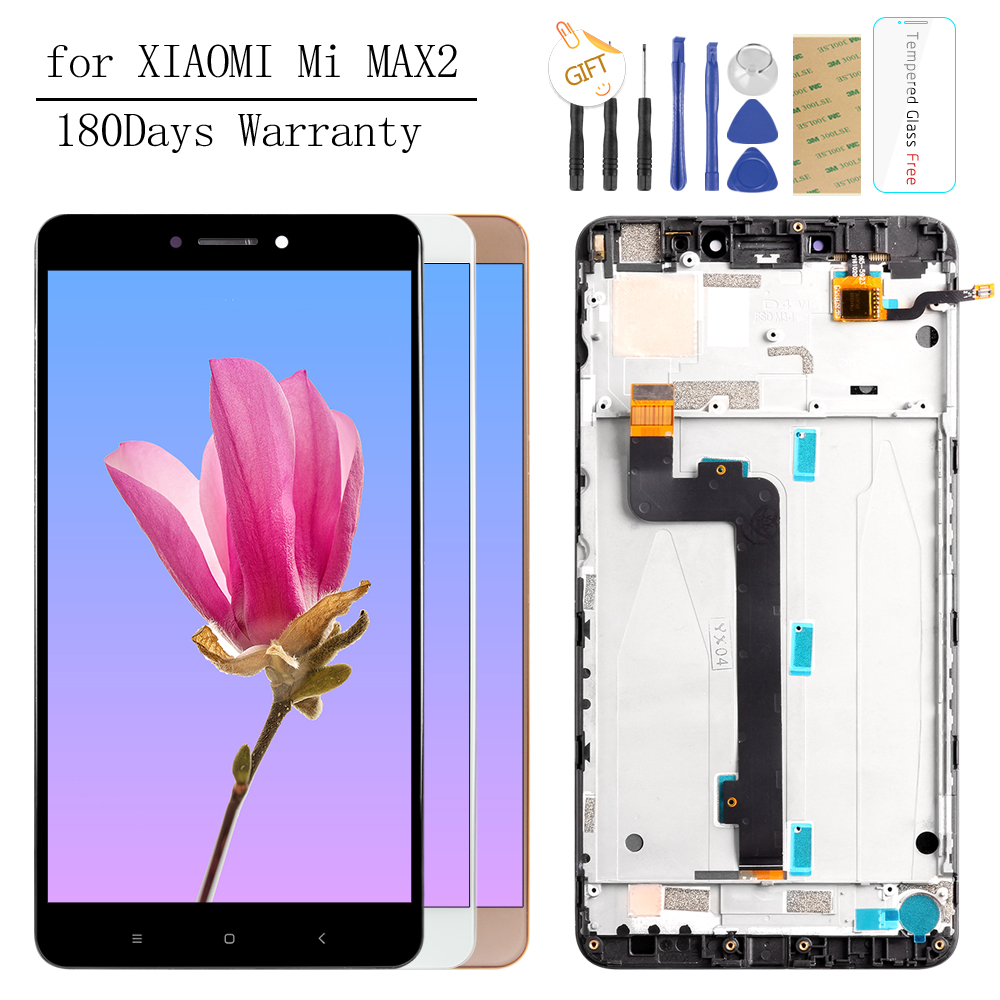 6.441920x1080 IPS LCD Display For XIAOMI MI MAX 2 LCD Touch Screen for Max2 Mi Max 2 LCD Digitizer with Frame Replacement Parts