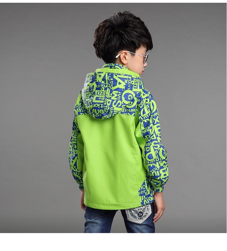 Chłopcy kurtka płaszcz wiosna jesień moda nastolatki ubrania - Ubrania dziecięce - Zdjęcie 3