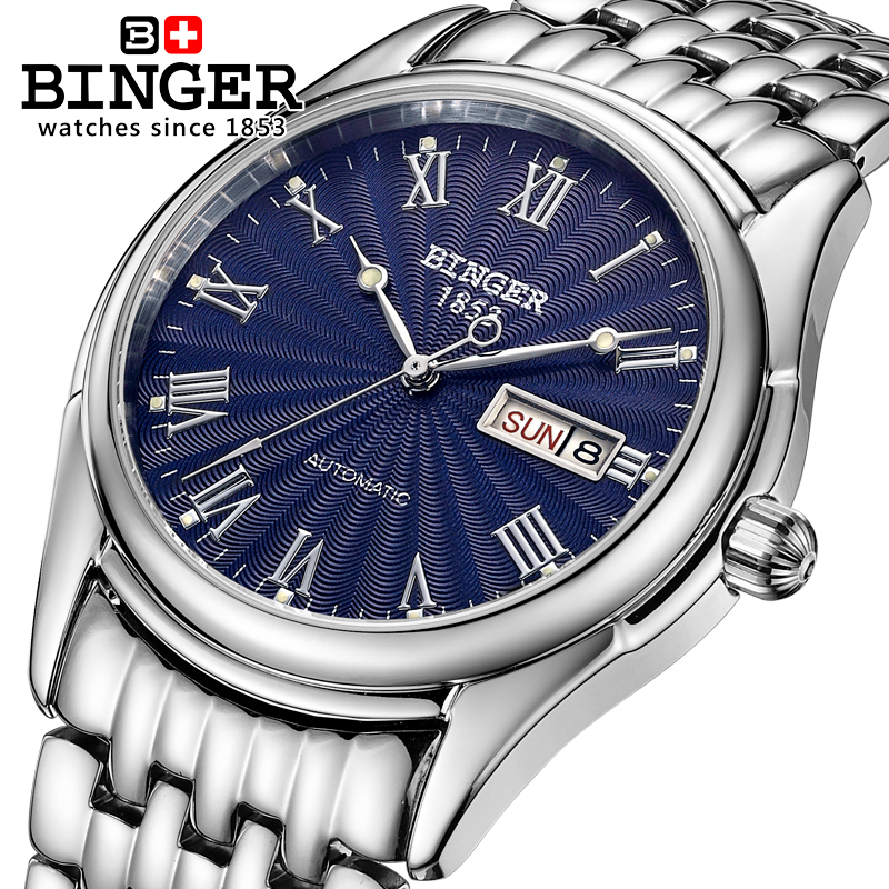 Switzerland Binger Mens Watch Luxury Brand Sapphire Automatic Mechanical Watch Men Waterproof Wristwatches relogio B106 2