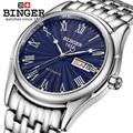Switzerland Binger мужские часы люксовый бренд сапфировые автоматические механические часы мужские водонепроницаемые наручные часы relogio B106-2